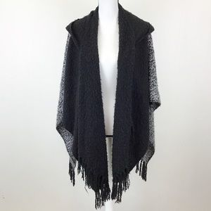 Collection Eighteen Hooded Poncho Sweater